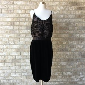 NWT Xhilaration Black Velvet Textured Dress Sz XL